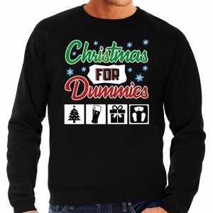 Foute kersttrui christmas for dummies zwart voor heren