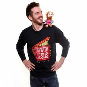 Foute Kersttrui Volwassenen.Foute Kersttrui I Am With Jesus Foute Eu