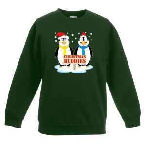 Foute Kersttrui Pinguin.Foute Kersttrui Met Pinguin Vriendjes Groen Kinderen Foute Eu