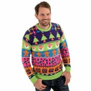 Foute kersttrui sweet mashup voor mannen