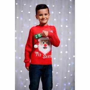 Foute kersttrui voor kinderen 3d aftel kalender