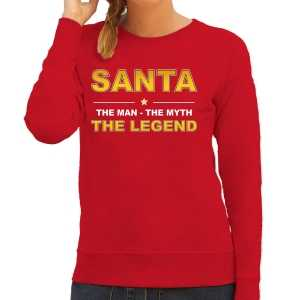 Foute santa kersttrui sweater / outfit / the man / the myth / the legend rood voor dames