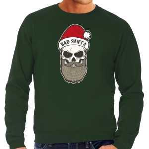 Grote maten bad santa foute kersttrui / outfit groen voor heren