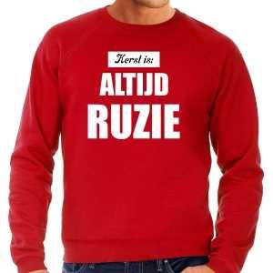 Rode foute kersttrui / sweater kerst is: altijd ruzie outfit heren