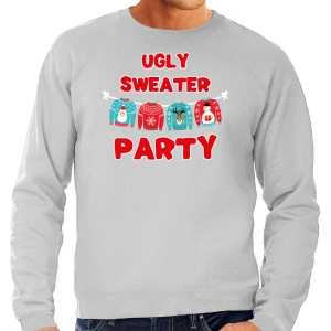 Ugly sweater party foute kersttrui / outfit grijs voor heren