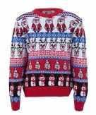 Kersttrui voor volwassenen met foute nordic print